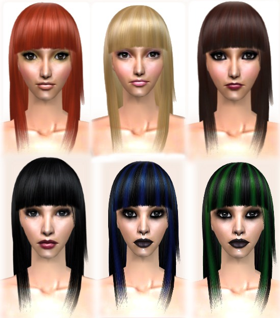 Mod The Sims Raonjena Hair 45 Naturalcustom Recolorsupdated