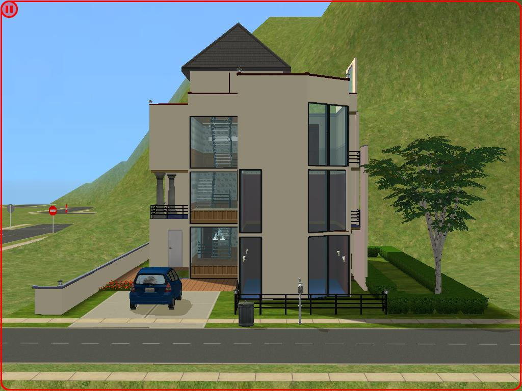Mod the sims narrow urban home for Minimalist house sims 2