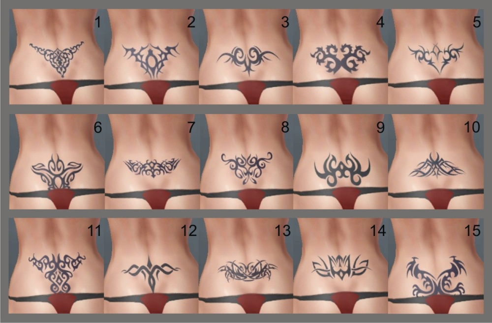 The most popular lower back tattoos are tribal tattoo designs or floral