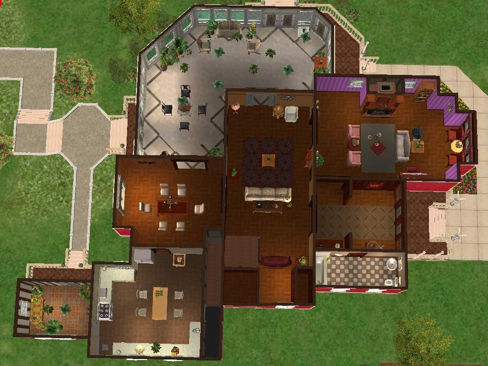 Mod the sims 1329 prescott street halliwell manor for Charmed house floor plan