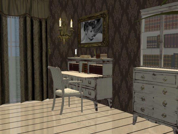 Mod The Sims Shabby Chic Antique I Love Lucy Livingroom