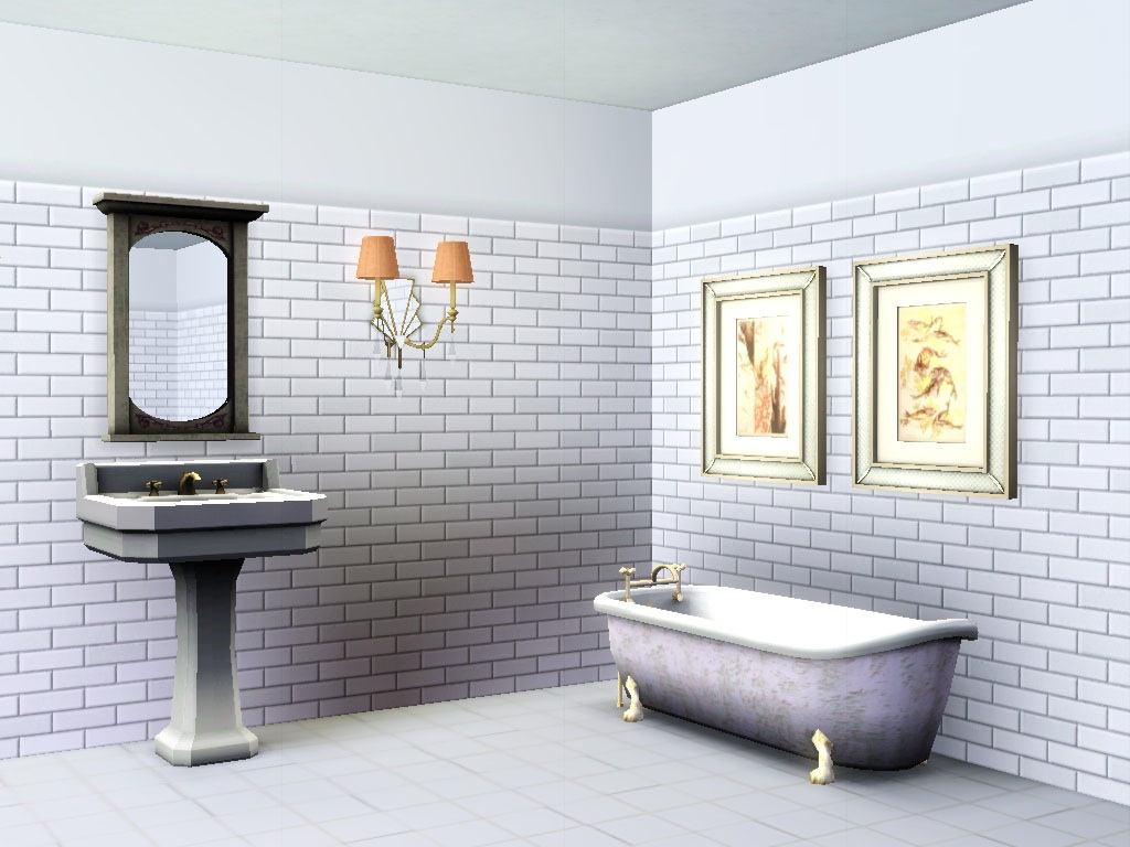 Fractional walls for The Sims 3 modern styled bathroom