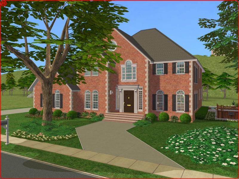 Mod The Sims A 3 Bedroom Colonial Style Home