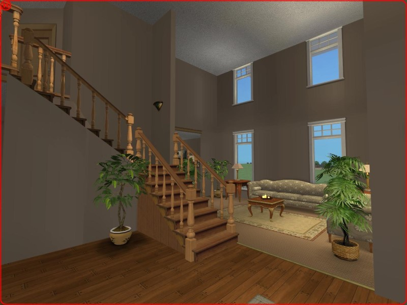 Mod the sims 3 bedroom craftsman style home for Sims 3 6 bedroom house