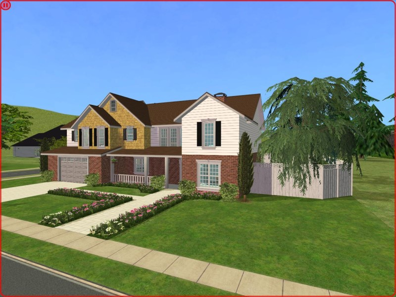 Mod the sims 4 bedroom new american craftsman style home for Sims 3 6 bedroom house