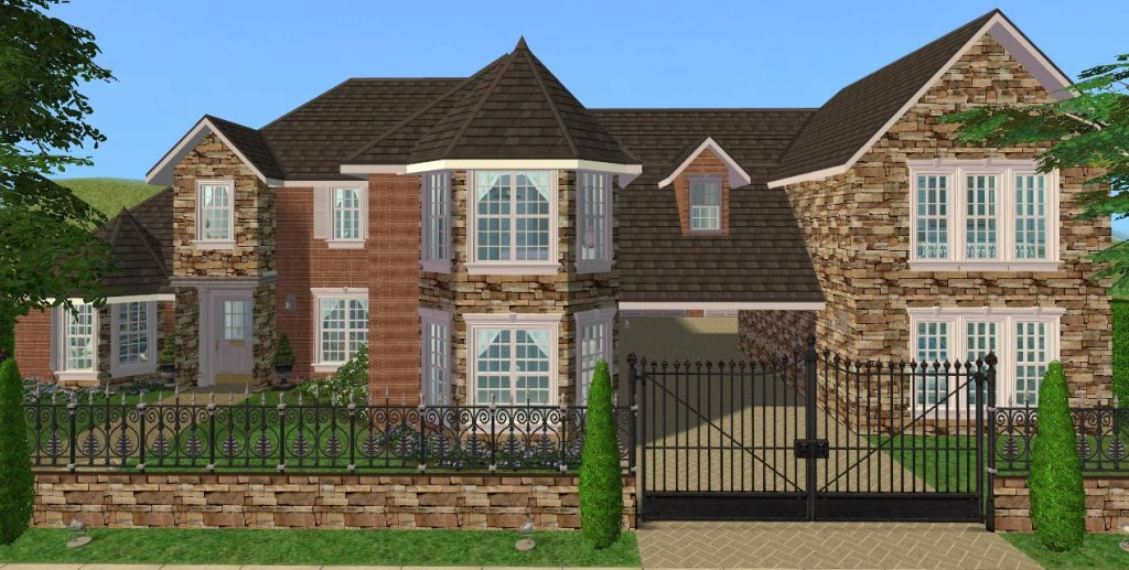 Mod the sims 5 bedroom luxury family home for Sims 3 6 bedroom house