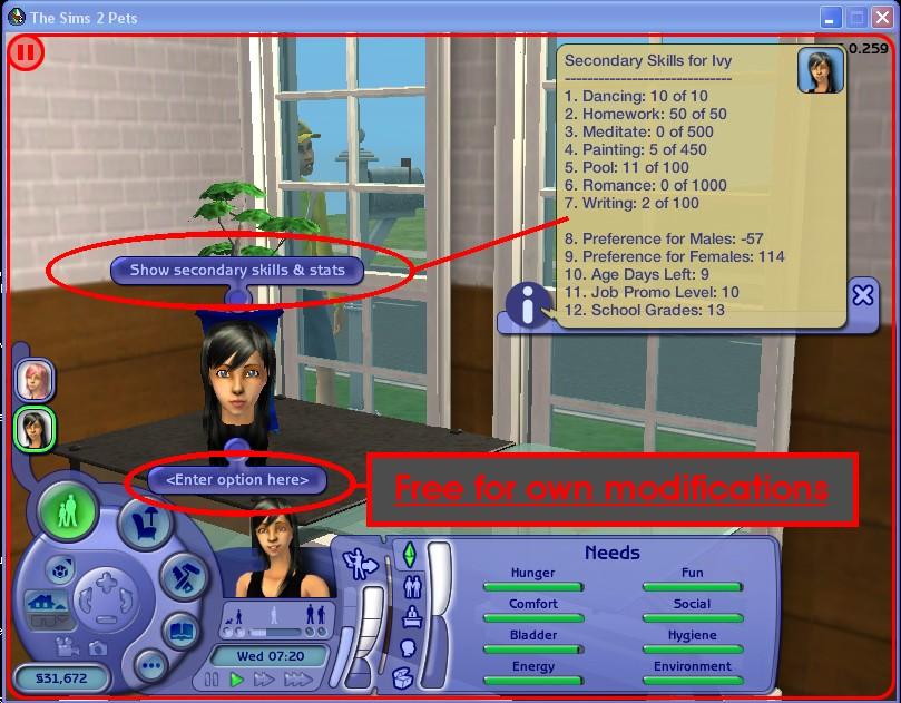 2 needs sims cheat 4 Ways