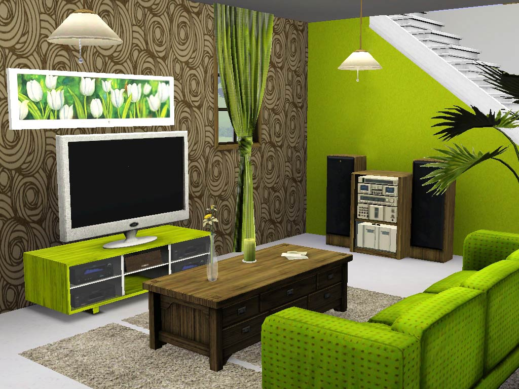Mod the sims ios greek house for Living room ideas sims 3