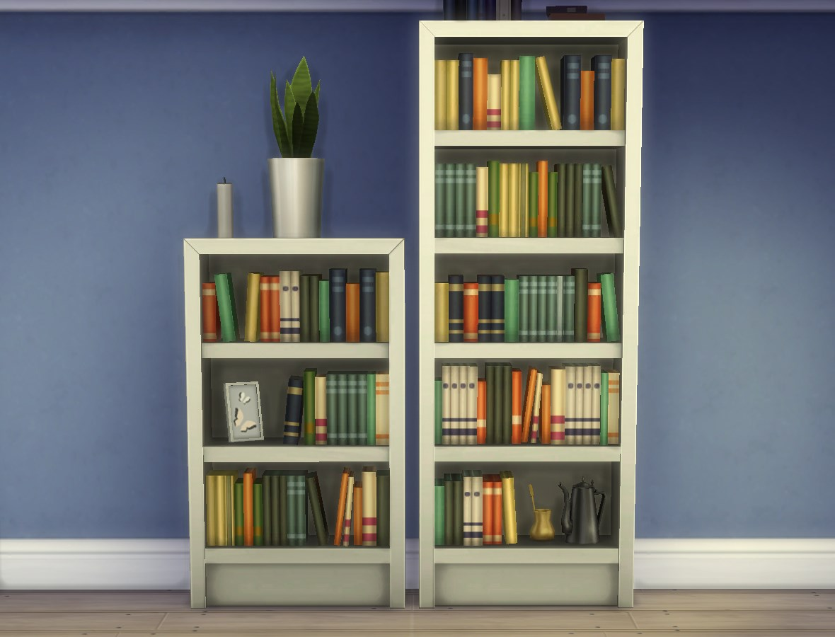 Mod The Sims Single Tile Intellect Bookcases