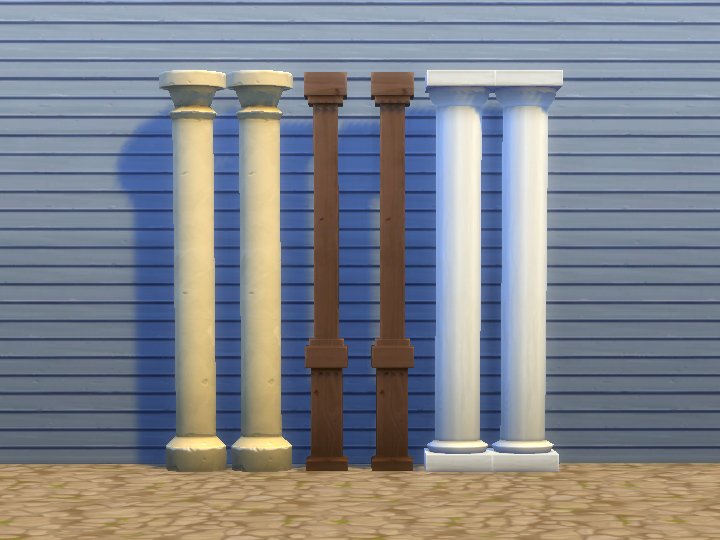 Mod the sims three decorative columns for Decorative columns