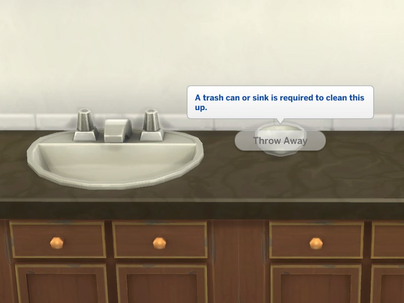 . Mod The Sims   No Dishes in Bathroom Sinks