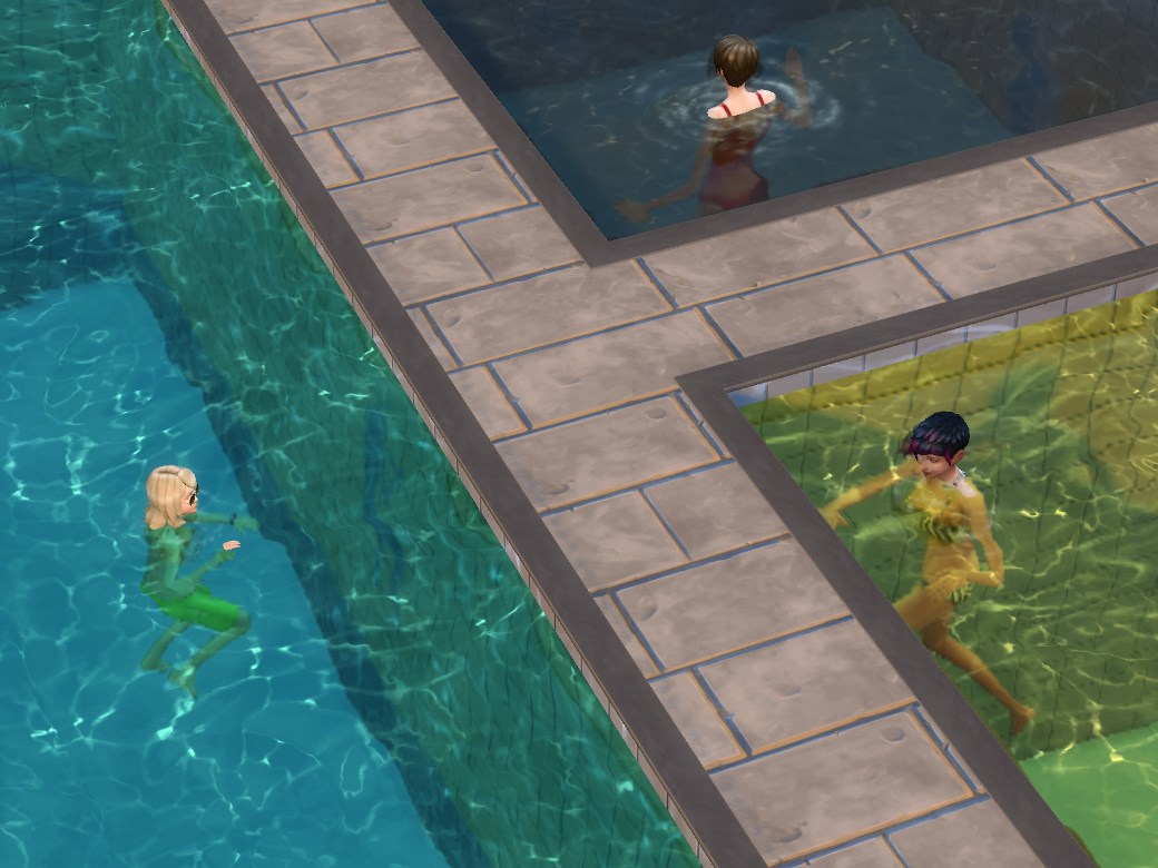 Pool Water mod the sims - multi-color pool water