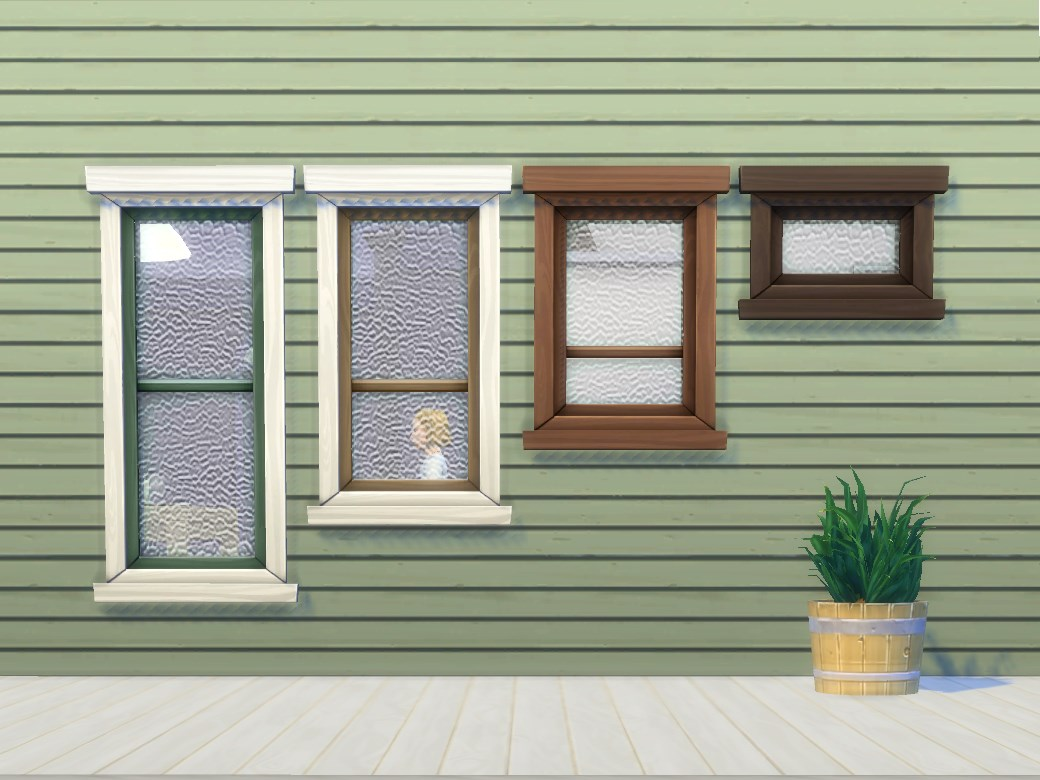the same windows with the regular maxis glass are already uploaded here double hung window add ons