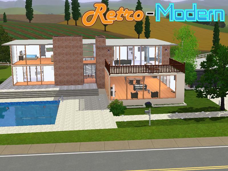 Mod the sims retro modern for Retro house plans