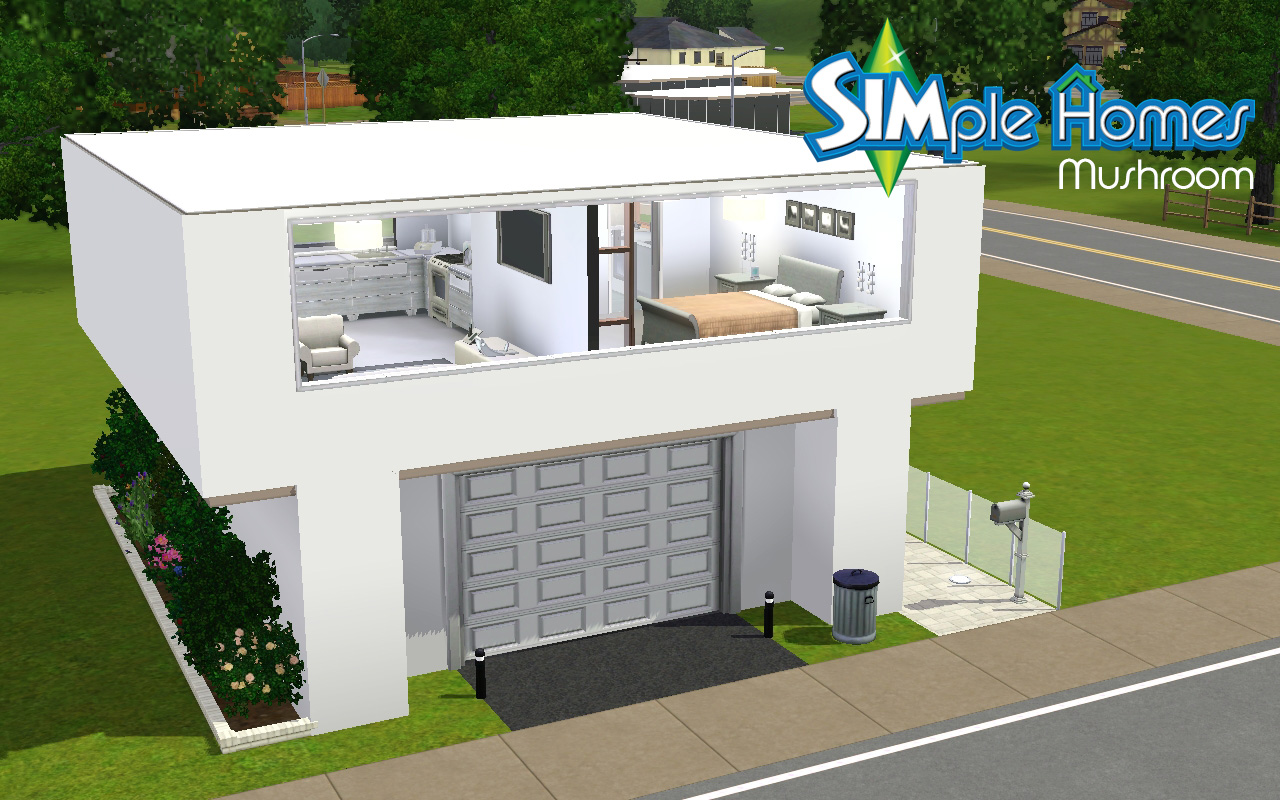 Mod the sims mushroom by simple homes for Minimalist house sims 2