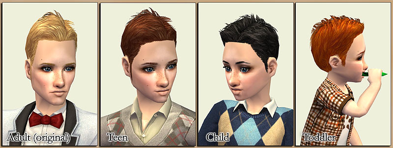 """Gelled Rock"" hairstyle from the Kitchen & Bath stuff pack for toddlers,"