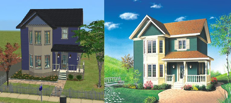 mod the sims - compact victorian cottage - no cc