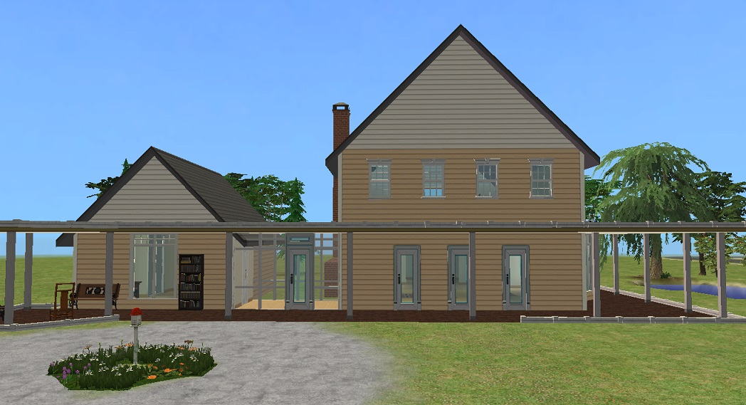 Mod The Sims - Yellow Clapboard House (from the Movie \'Housesitter ...