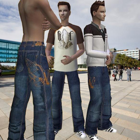"Mod The Sims - G-Unit baggy pants ""Prayer Request"" for Sim ..."