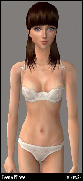 Mod The Sims - Female Teen: Sexy & Cute Undies