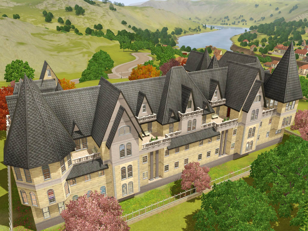 Mod the sims grothfort castle for Build a castle home