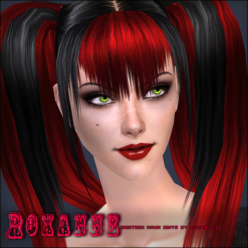 zj_roxanne_blackandlightpink for the black hair/light pink streaks) so
