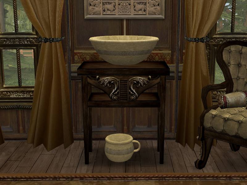 Mod The Sims Chamber Pot And Bowl Sink