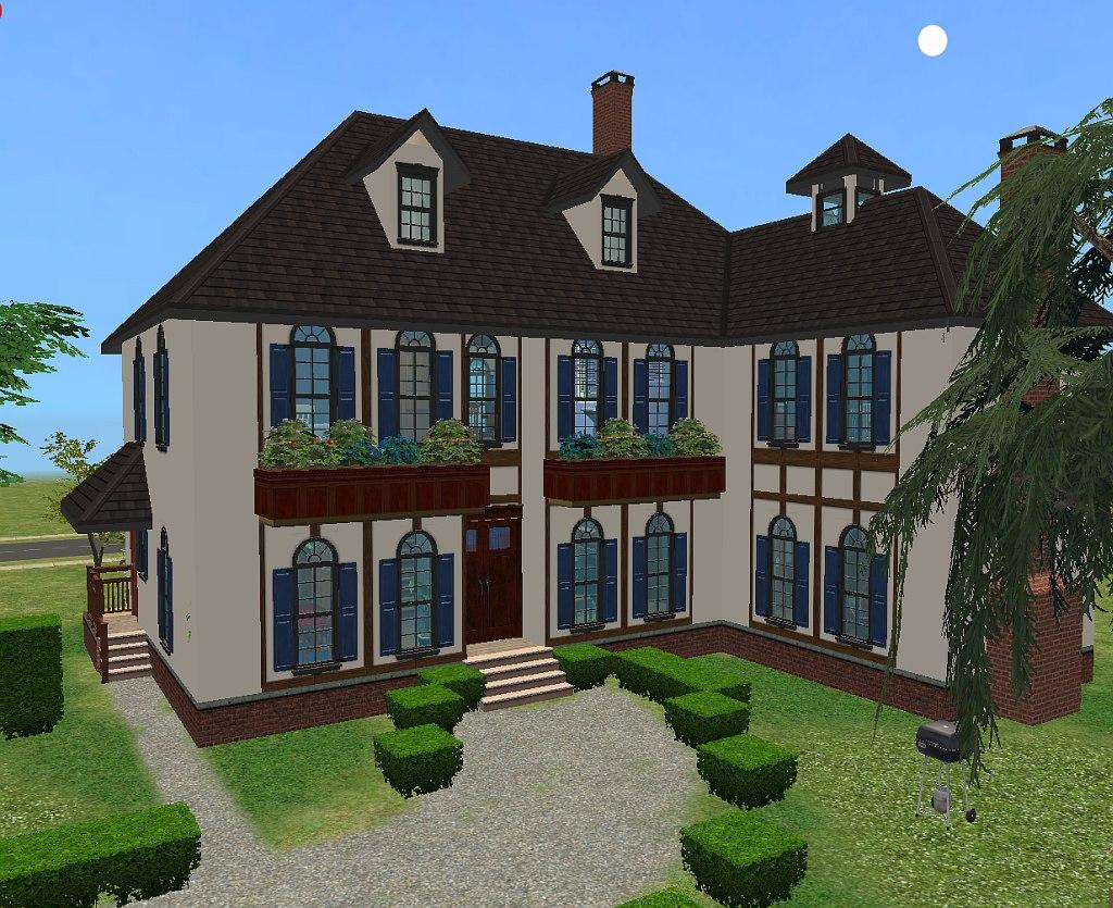 Mod the sims maison de campagne for Modele maison sims 2