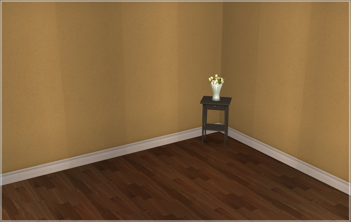 Mod the sims quiet morning walls and floors for Brown and yellow walls