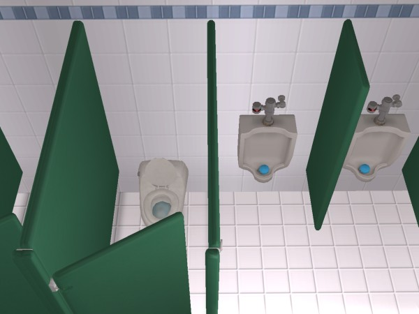 """Bathroom Stall Sims 4 mod the sims - """"no peeping"""" resistall astro divider 3"""