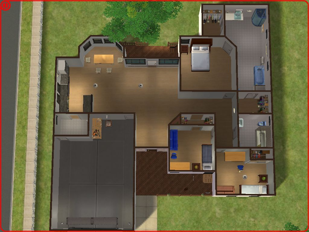 Mod the sims suburban home no 2 for House decoration simulator