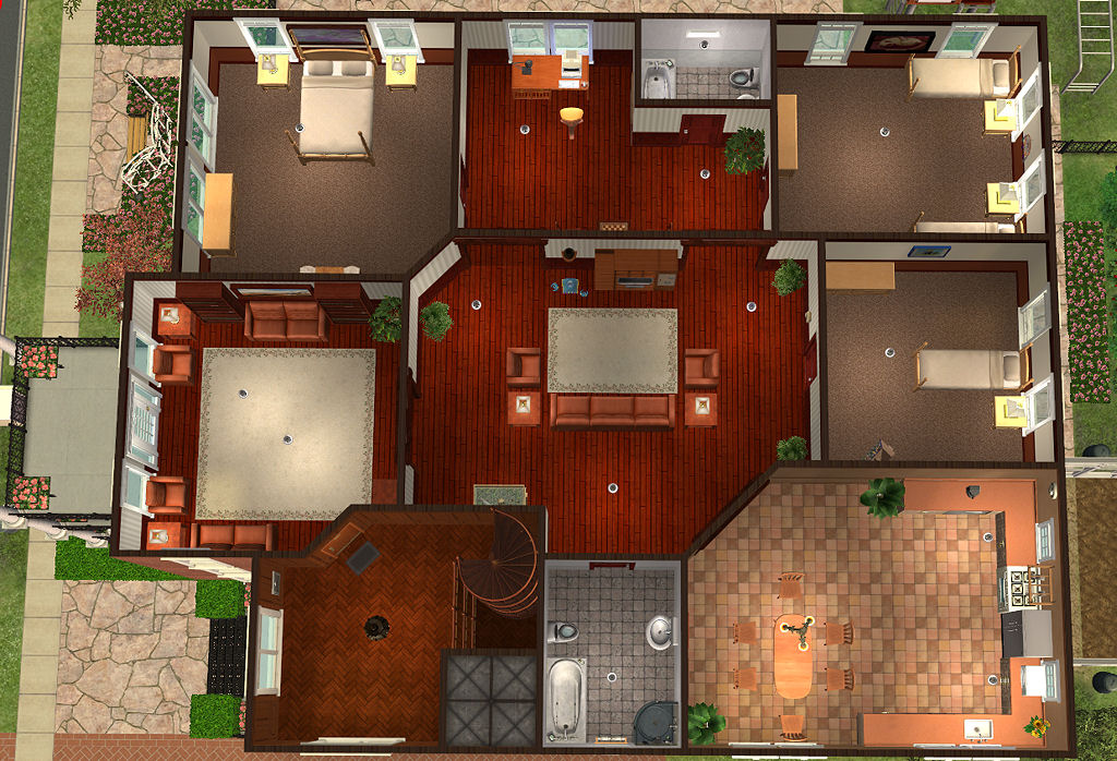 Mod the sims colonial apartment house ii Nice house music