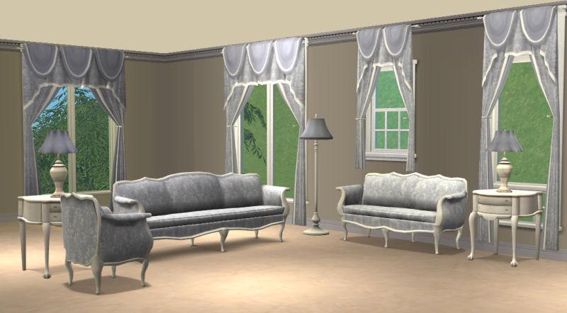 Prime Mod The Sims Blue Damask Livingroom Sets Pabps2019 Chair Design Images Pabps2019Com