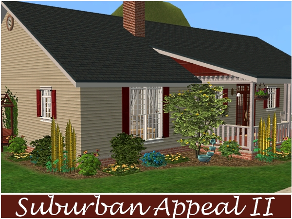 Mod The Sims - Suburban Appeal II - 4BD, 3 BA Ranch Style Home