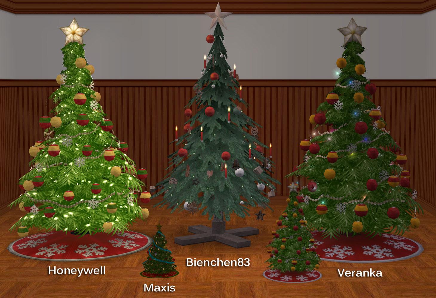 mod the sims summon santa w cc christmas trees
