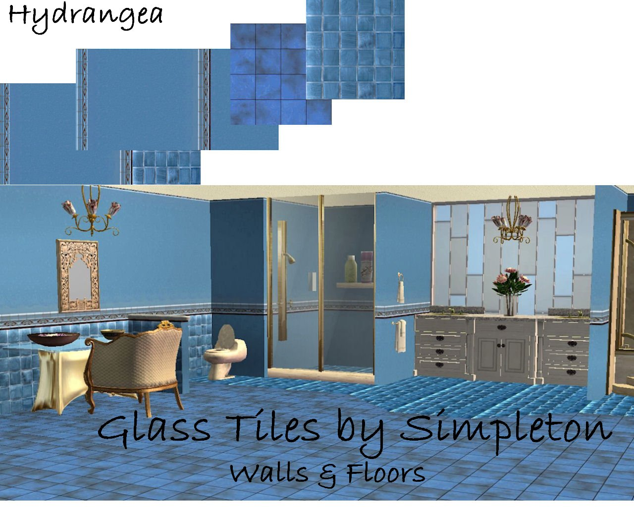 Mod The Sims Mosaic Glass Tiles For Walls Amp Floors
