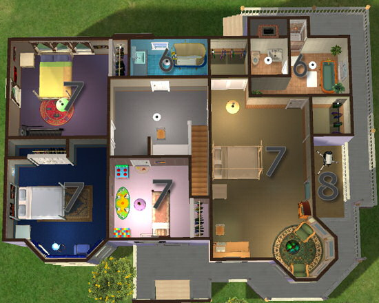 Mod the sims classics 2 furnished and unfurnished for Mansion floor plans sims 4