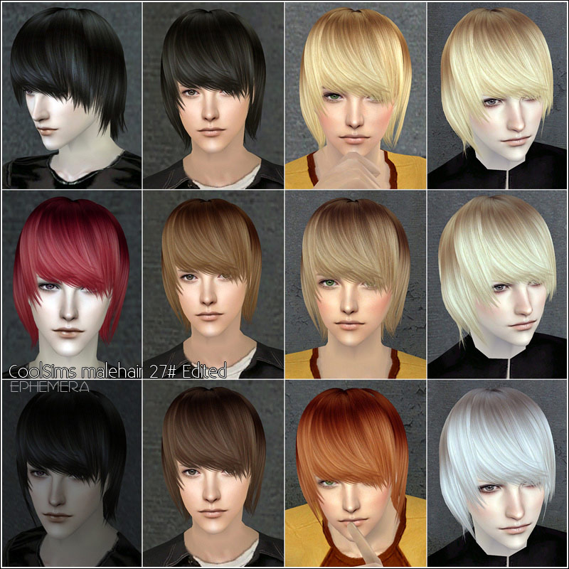 Mod The Sims Coolsims Male Hair 27peggy Free Hair 090601newsea