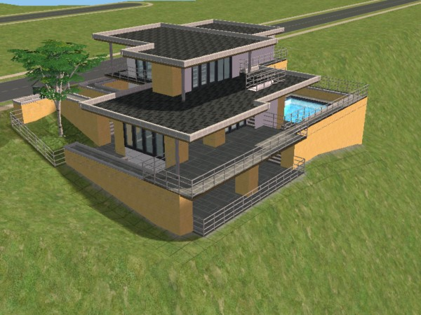 Mod the sims slope futuretro villa for Classic underground house