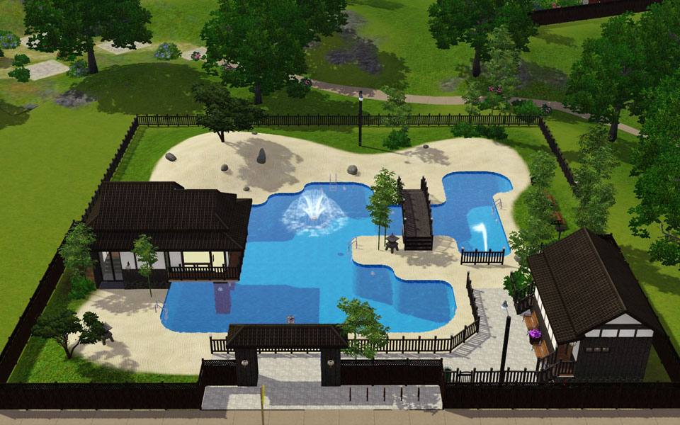 "Mod The Sims - Japanese style tourist spot ""Public pool"""