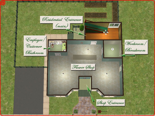 Designing a floor plan for a florist joy studio design for Flower shop design layouts