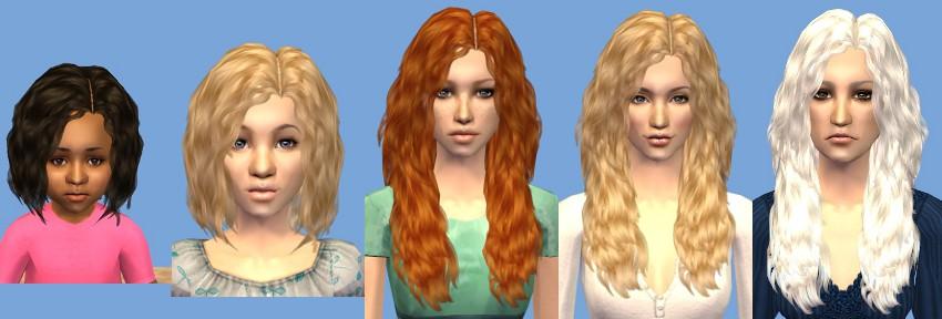 capelli the sims 3