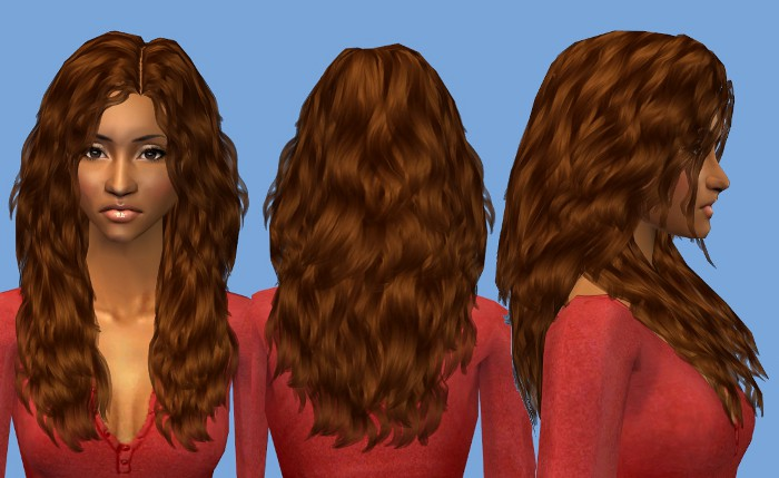 Mod The Sims - Nouk - Long wavy Hair for ladies of all ages