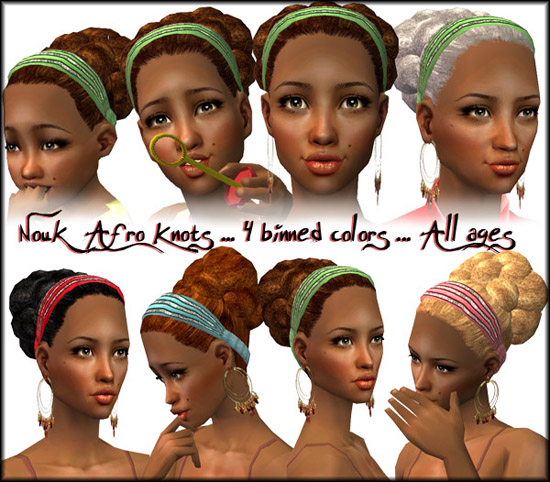 Your sim ladies aged toddler to elder will love this cute natural hairstyle.