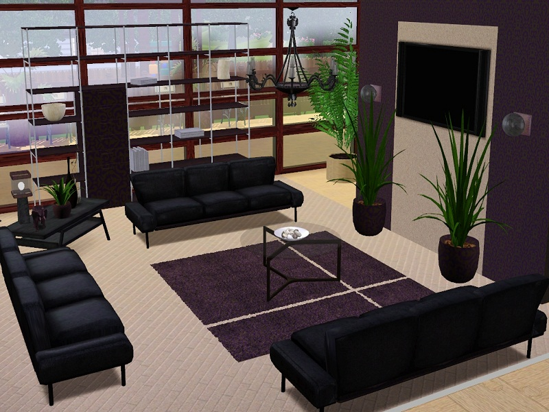 Mod the sims larroville pearl 3 bedrooms loft gym Living room gym