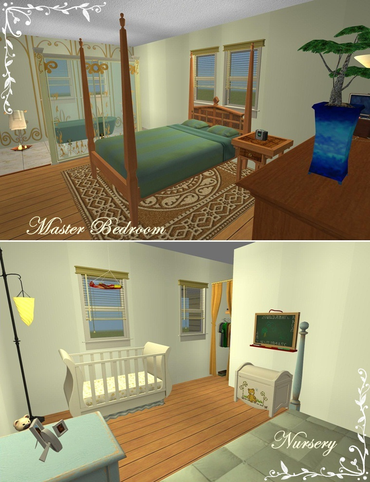 Mod the sims vanilla dollhouse for Master bedroom with attached nursery