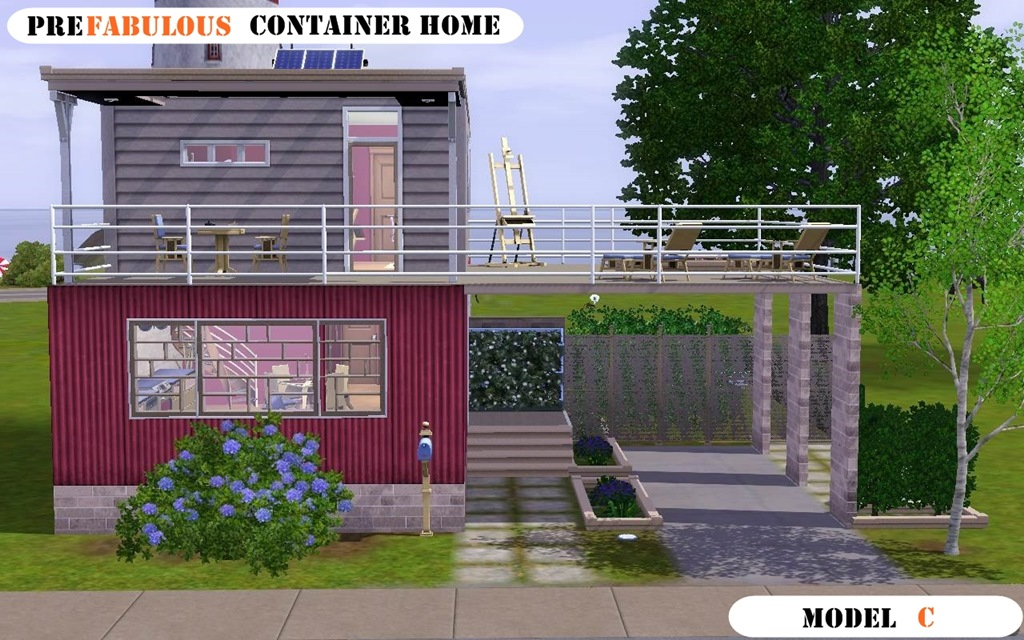 Mod the sims prefabulous container home model c - Container home info ...