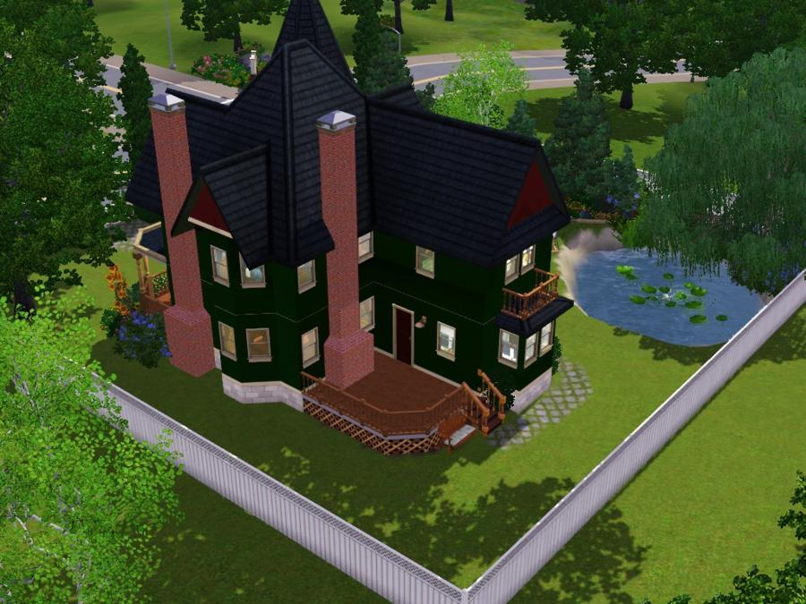 1897 Queen Anne Victorian Home. Mod The Sims - Laura Hawkins House - Ca. 1897 Queen Anne Victorian