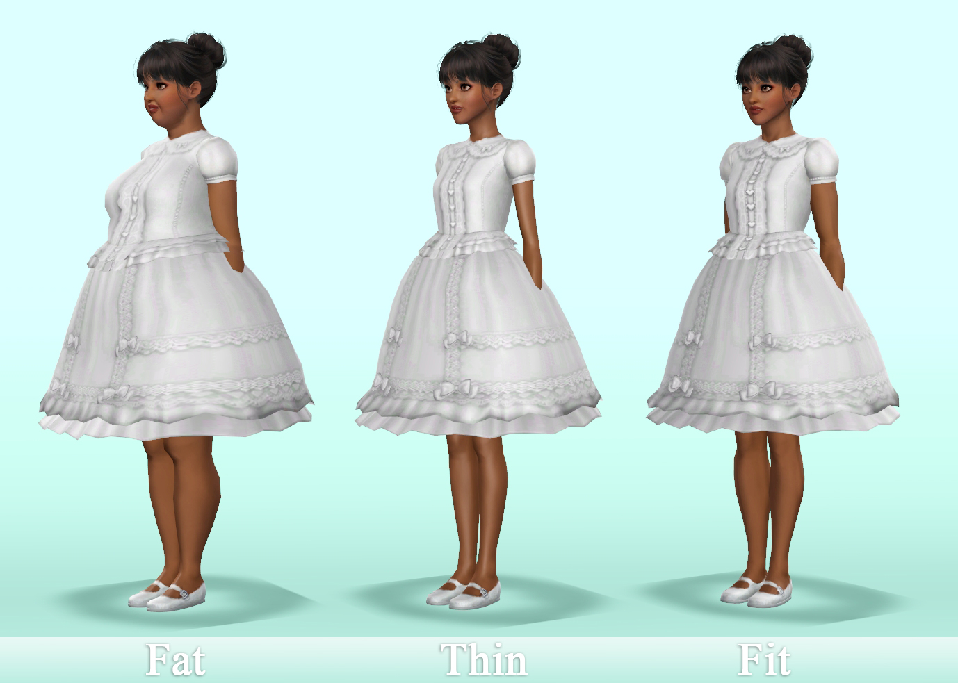 mod the sims   lace dreams lolita blouse and skirt