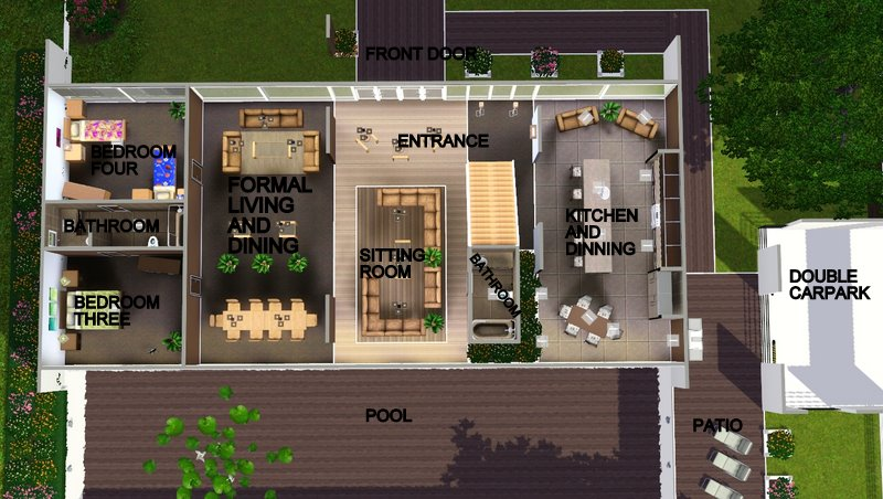 The gallery for modern family dunphy house floor plan for Modern family house floor plan